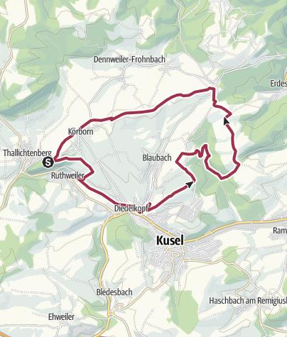 Karte / Kusel-Aussichtstour um die Burg Lichtenberg