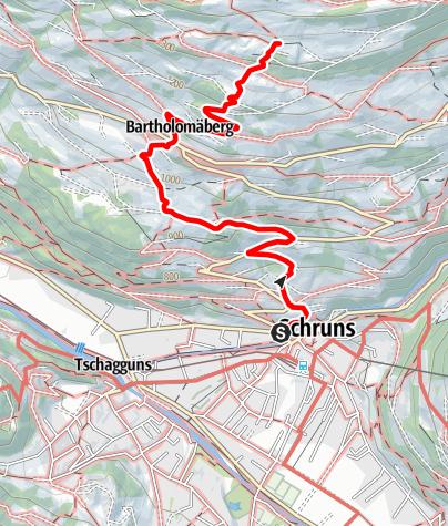 Karte / Bergknappenweg Bartholomäberg