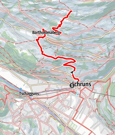 Map / Bergknappenweg Bartholomäberg