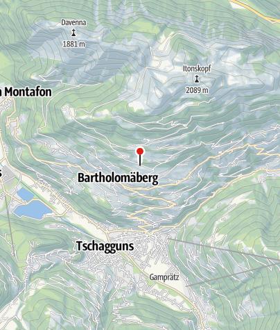 Karte / Roferweg, spätmittelalterliche Bergschmiede