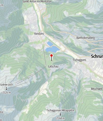 Kaart / Klettergarten Tschagguns - Latschau