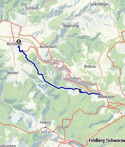 Karte / Über den schönsten Aussichtsgipfel des Dreisamtals nach Hinterzarten