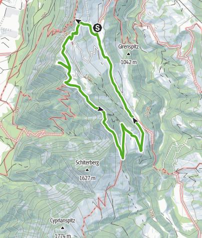 Karte / Valzeiner Rundweg