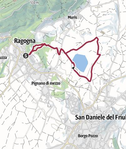 Mappa / dal centro del paese al Lago di Ragogna