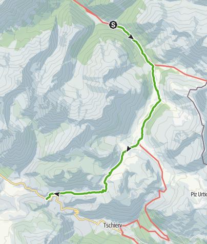 Karte / Von S-charl zum Ofenpass