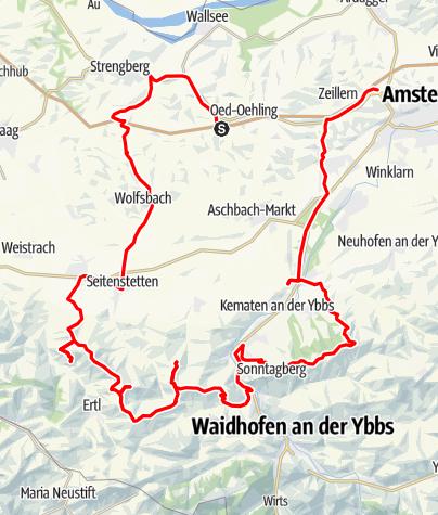 Karte / Panoramatour an der Moststraße