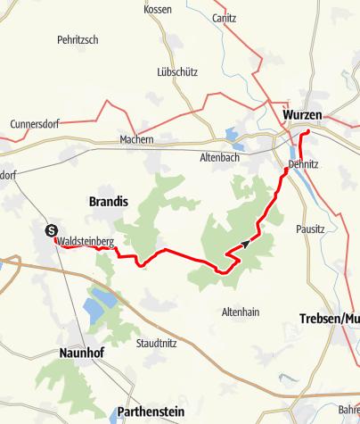 Karte / Wanderung von Beucha durch den Planitzwald