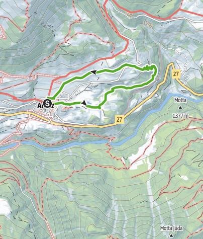 Karte / Forscherpfad Smaragdgebiet Ardez