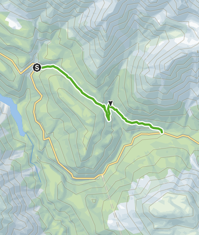 Karte / Champlönch: Entlang dem alten Saumpfad