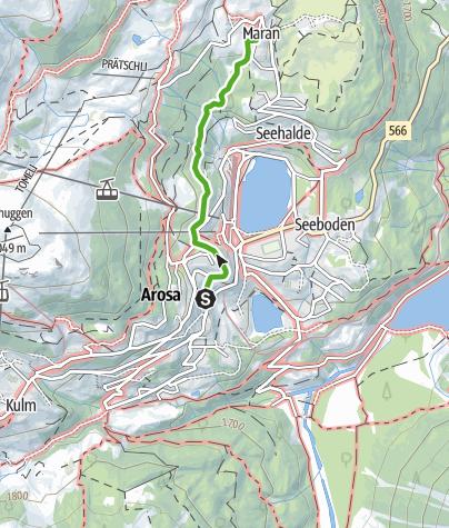 Karte / Eichhörnliweg Arosa
