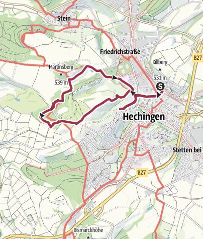 Karte / Hechingen Waldlehrpfad