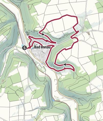 Karte / Felsenwanderung rund um Bad Imnau