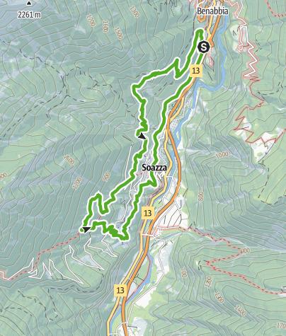 Cartina / Sentiero Cultura e Natura tra castello e castagni