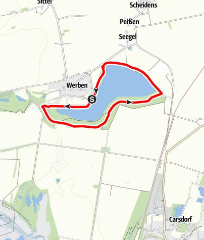 Karte / Naturerlebnispfad Werbener See