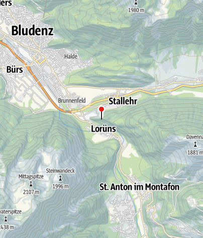 Kaart / Kletterwand Lorünser Wändle