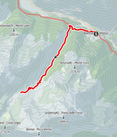 Map / Karthaus/Certosa - Alpine Farm Penaud