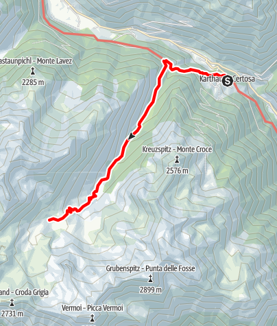 Map / Certosa/Karthaus - Alpine Farm Penaud