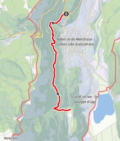 Mapa / Kalterer Höhenweg
