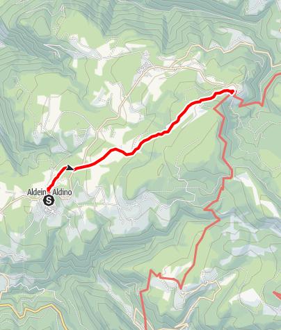 Kaart / Pilgerweg von Aldein — Gampen nach Weißenstein