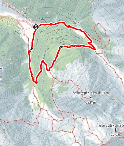 Mapa / Wanderung zum Seebergsee