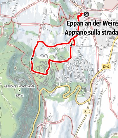 Mapa / Wanderung zu den Eislöchern
