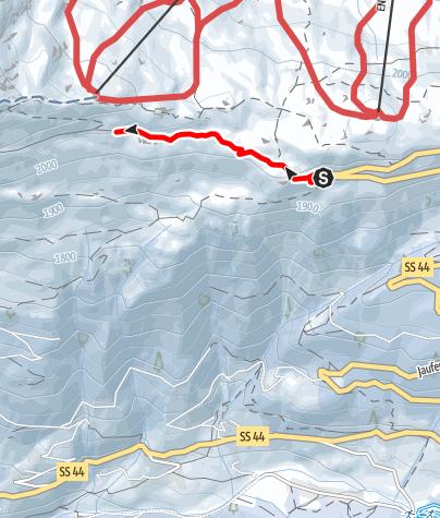Carte / Winterwanderung von der Römerkehre bis zur Flecknerhütte