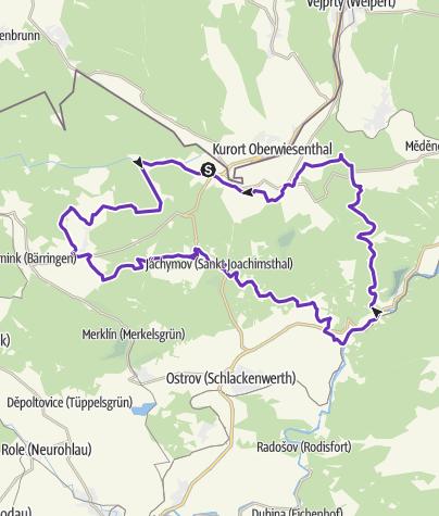 Mapa / Krušné hory (Horská výzva) - LONG