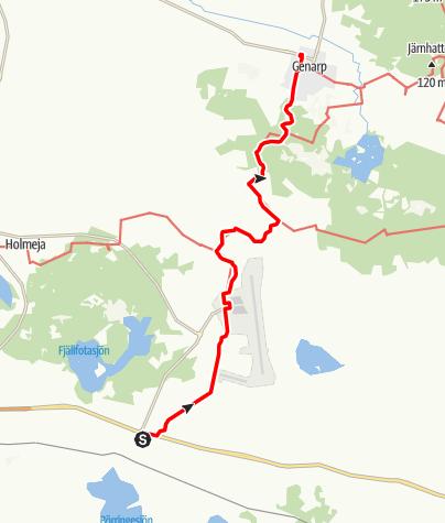 Karta / Mariavägen, Börringe kloster - Genarps kyrka