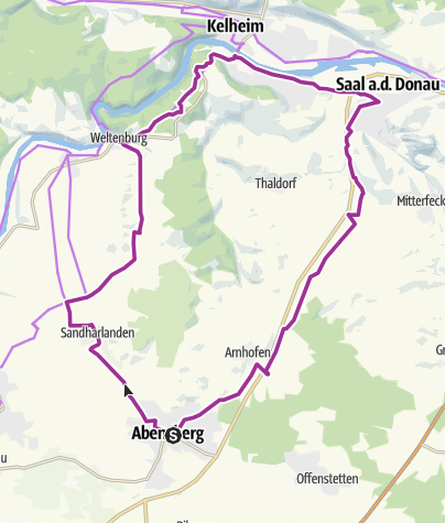 Map / Time Out Bicycle Experience: Weltenburg Tour