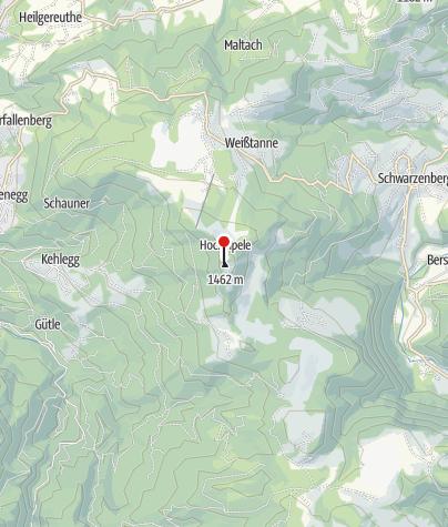 Karte / Hochälpele Hütte