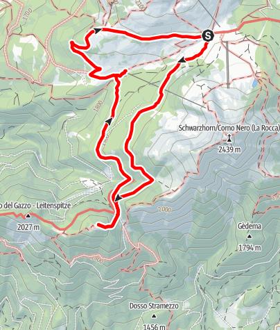 Mappa / Passo Oclini – Passo Cugola – Passo Oclini