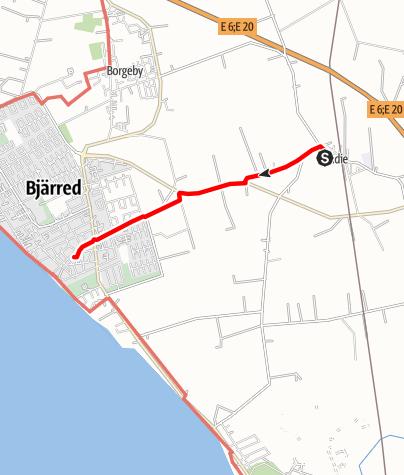 Map / Birgittavägen, Lund till Vadstena, Flädie-Bjärred