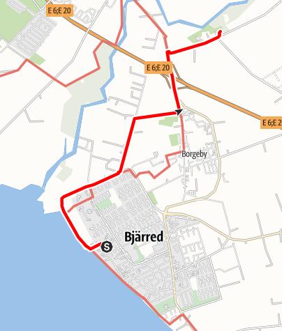 Karta / Birgittavägen, kolerakyrkogården - Borgebys kyrka