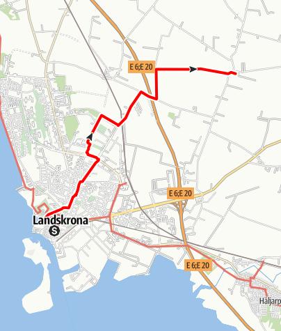 Karta / Birgittavägen, Sofia Albertinas kyrka - Vadensjös kyrka