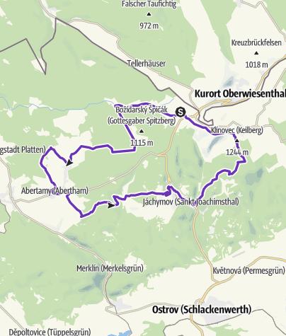 Mapa / Krušné hory (Horská výzva) - HALF