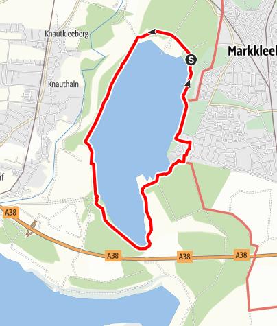 Karte / Seerundweg am Cospudener See