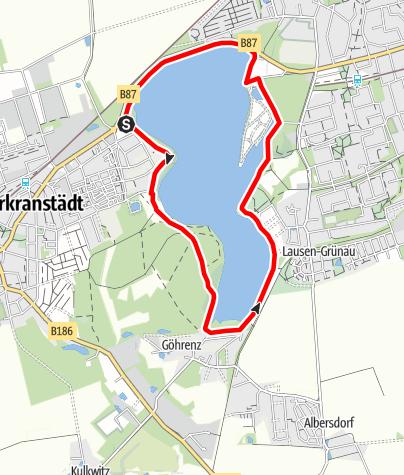 Karte / Seerundweg am Kulkwitzer See