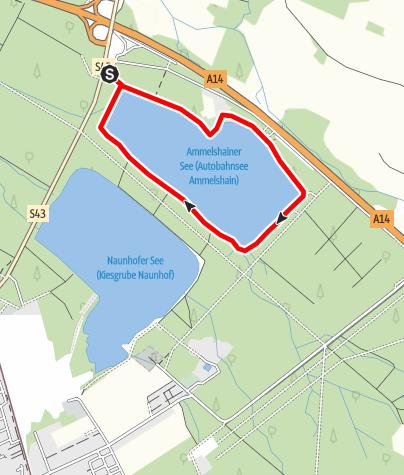 Karte / Wanderung um den Moritzsee