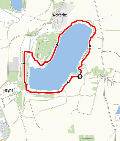 Karte / Seerundweg am Schladitzer See