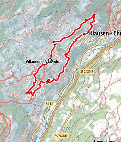 Kaart / Törggeleweg Villanders