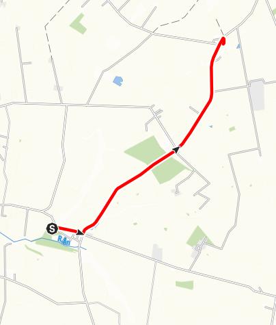 Karta / Birgittavägen, Sireköpinges kyrka - Halmstads kyrka