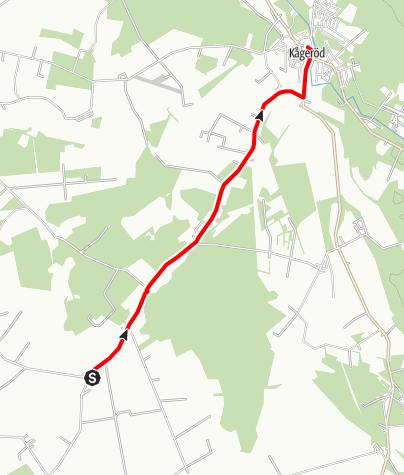 Map / Birgittavägen, Lund till Vadstena, Halmstad by-Kågeröd