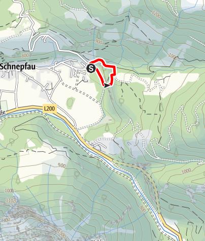 Karte / Wälder Klettersteig am Widerschrofen