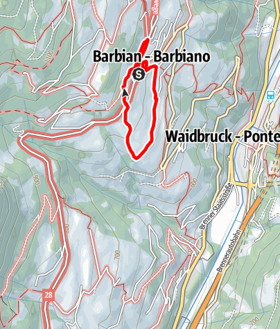 Map / Trail of the plum of Barbian/Barbiano