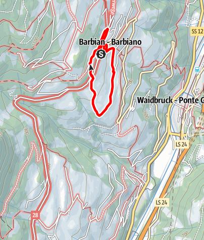 Mapa / Barbianer Zwetschkenweg