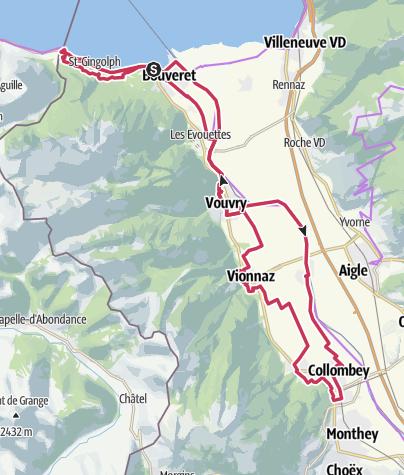 Carte / Tour du Haut Lac