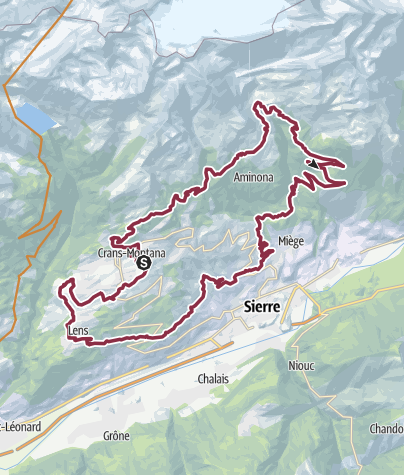 Map / Crans-Montana Bike Marathon