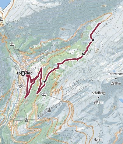Karte / Leukerbad-Flüealp