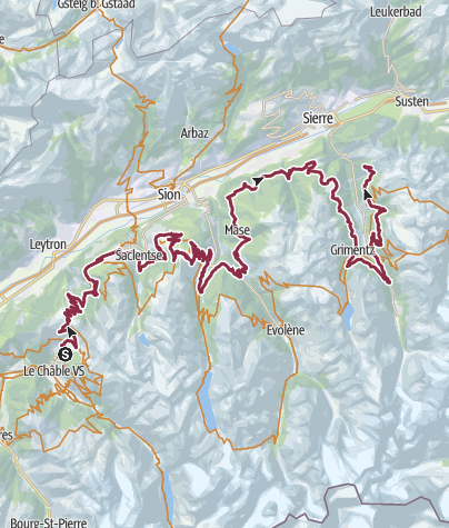 Carte / Valais Alpine Bike