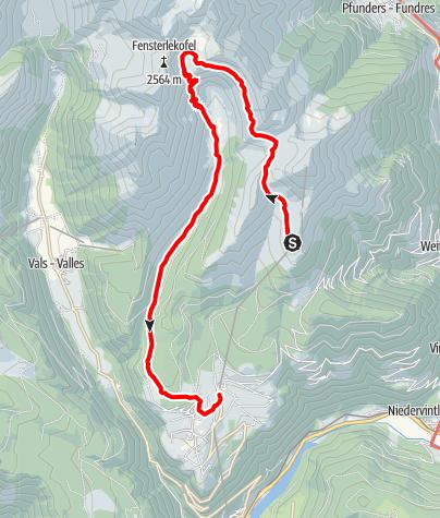 Karte / Altfasstal - vom Gitschberg ausgehend